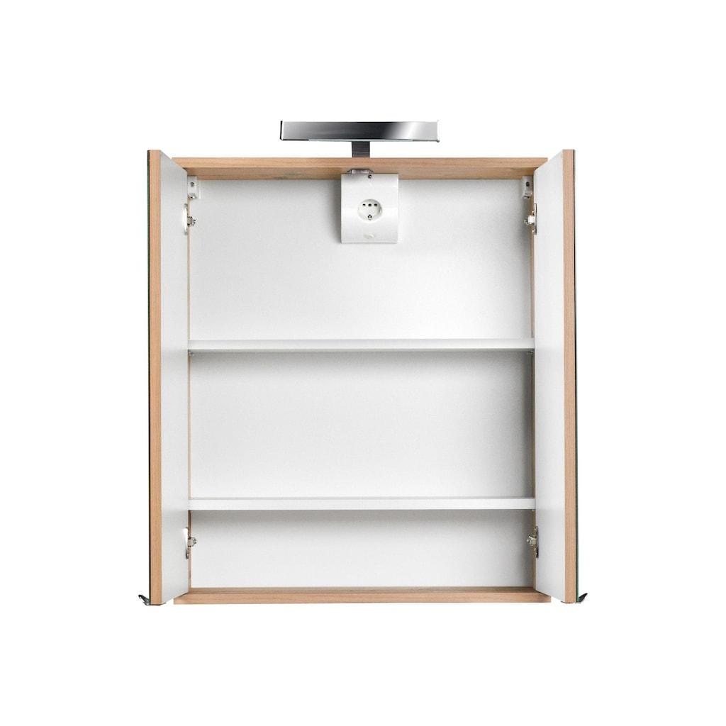 Schildmeyer Spiegelschrank »Isola«, Breite 60 cm, 2-türig, LED-Beleuchtung, Schalter-/Steckdosenbox, Made in Germany