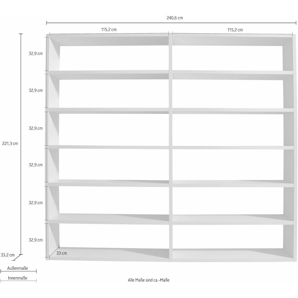 Raumteilerregal »Toro«, 12 Fächer, Breite 240,6 cm