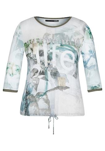 LeComte 3/4-Arm-Shirt, mit Tunnelzug und Glitzergarn an den Ärmeln kaufen