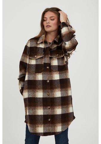 fransa Langjacke »FRBAPLAID 2 Jacket 20609672«, Lange Hemdjacke im Holzfäller-Stil kaufen