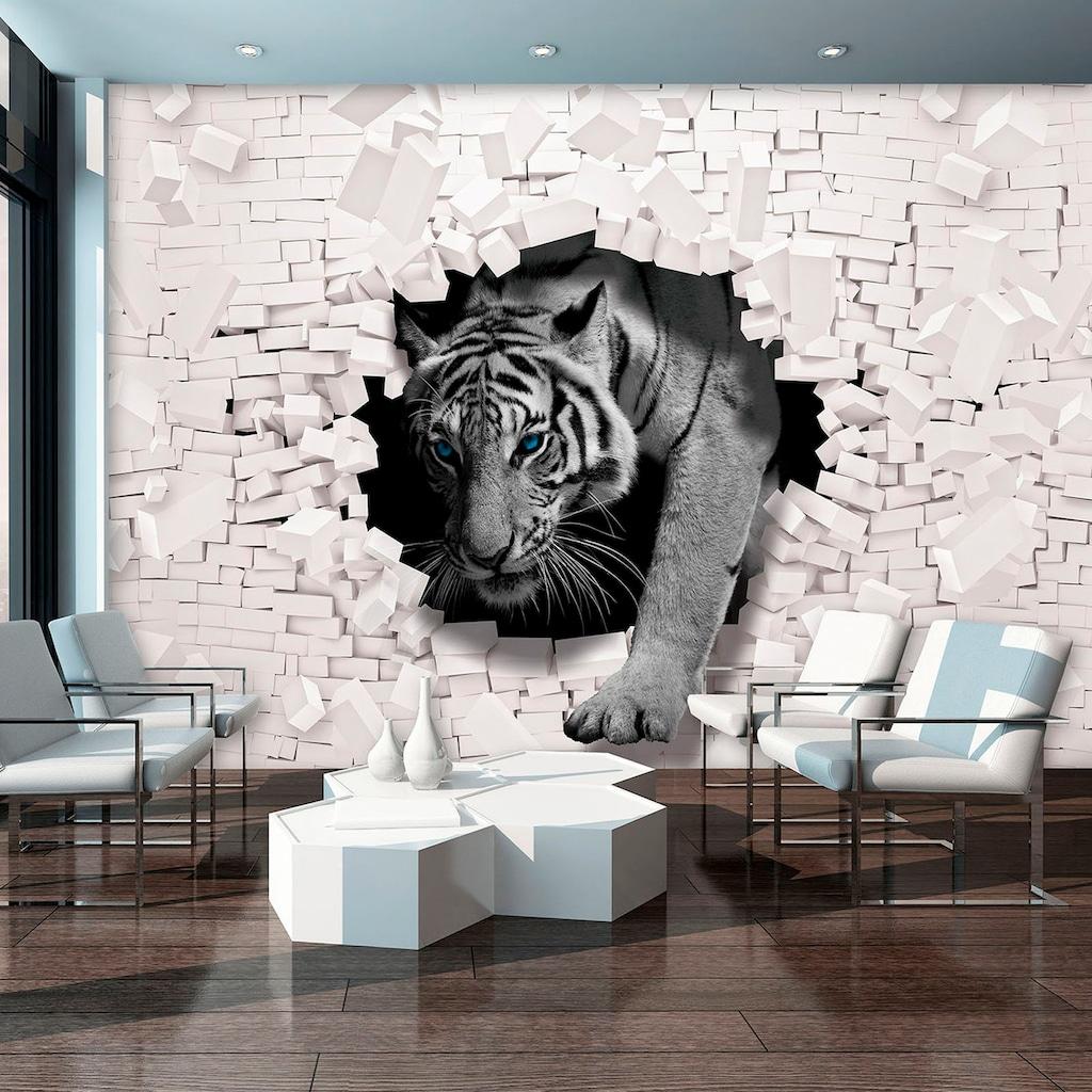 Consalnet Vliestapete »3D Tiger«, verschiedene Motivgrößen, für das Büro oder Wohnzimmer