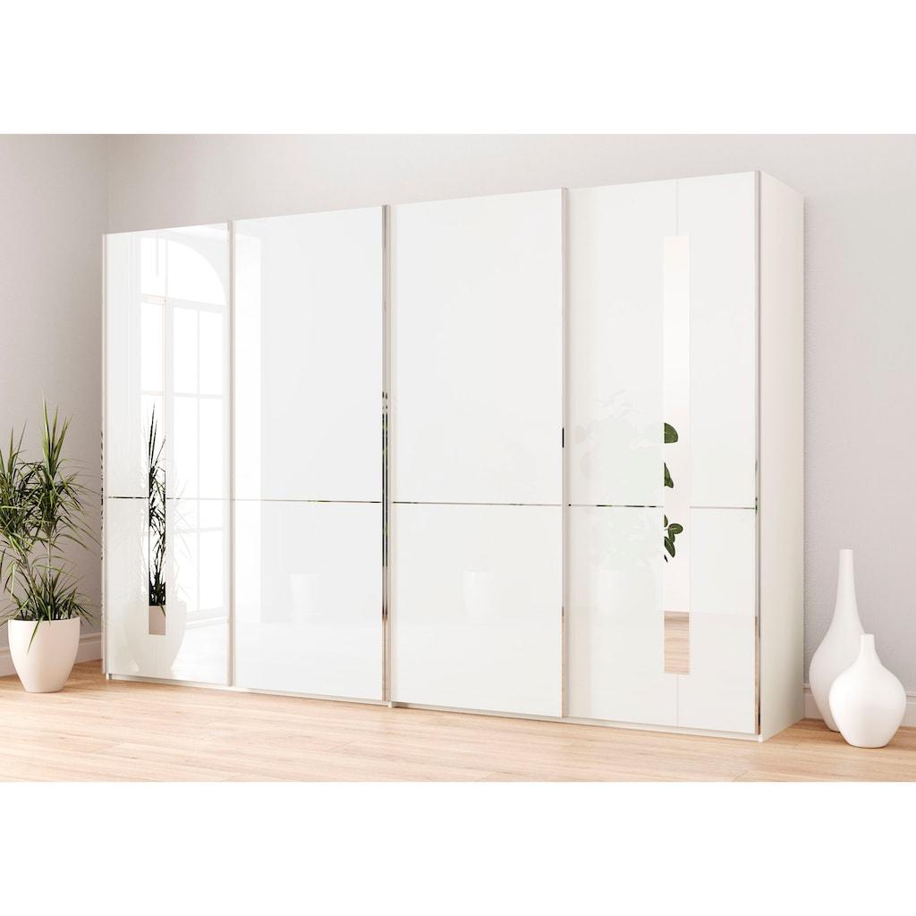 GALLERY M Schwebetürenschrank »Imola W«, inkl. Einlegeböden und Kleiderstangen, mit Glastüren inkl. Zierspiegel, in zwei Höhen und mehreren Breiten