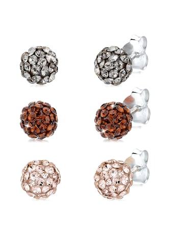 Elli Ohrring-Set »Basic Set Kugel Kristalle 925 Silber« kaufen