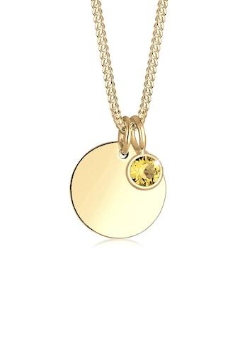 Elli Collierkettchen »Vergoldet mit Swarovski® Kristall Monatstein« kaufen