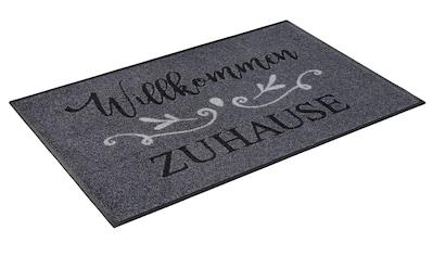 wash+dry by Kleen-Tex Fußmatte »Willkommen Zuhause«, rechteckig, 7 mm Höhe,... kaufen