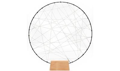 KONSTSMIDE LED Dekolicht, Extra-Warmweiß, LED Metallsilhouetten Ring mit Holz-Fuß, mit... kaufen