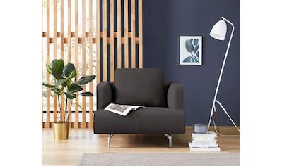 hülsta sofa Sessel »hs.440«, wahlweise in Stoff oder Leder, Gussfüße poliert kaufen