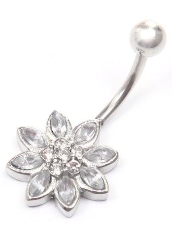 J.Jayz Bauchnabelpiercing »Blume, funkelnd eingefasst«, mit Glassteinen kaufen
