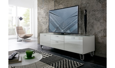 LEONARDO Lowboard »CUBE«, auf Designfüßen, mit 2 Türen, 1 Klappe, 1 SK, Breite 189 cm kaufen