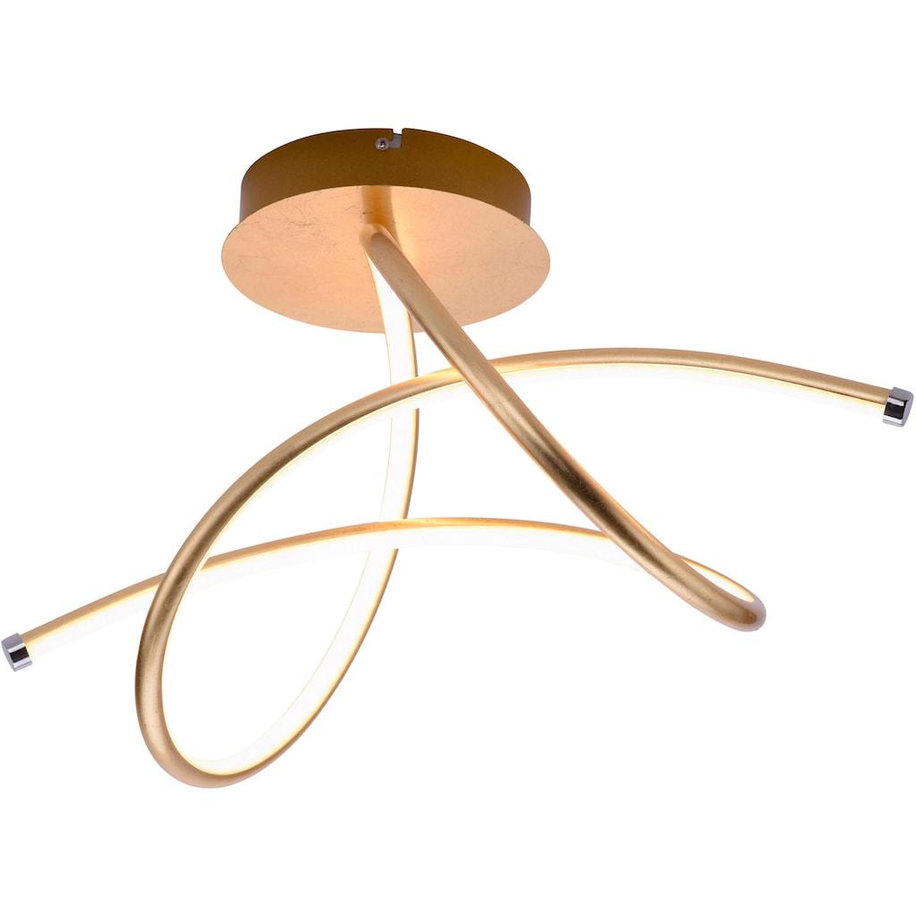 Leuchten Direkt LED Deckenleuchte »VIOLETTA«, LED-Board, Warmweiß, inklusive festverbaute LED, geschwungene aus Stahl gefertigte Deckenlampe