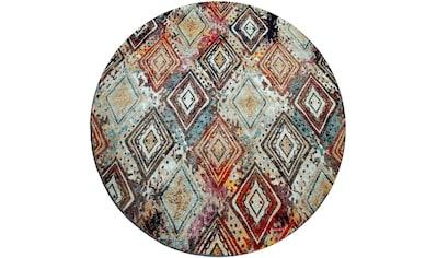 Paco Home Teppich »Artigo 433«, rund, 4 mm Höhe, Kurzflor, Rauten Design, In- und... kaufen