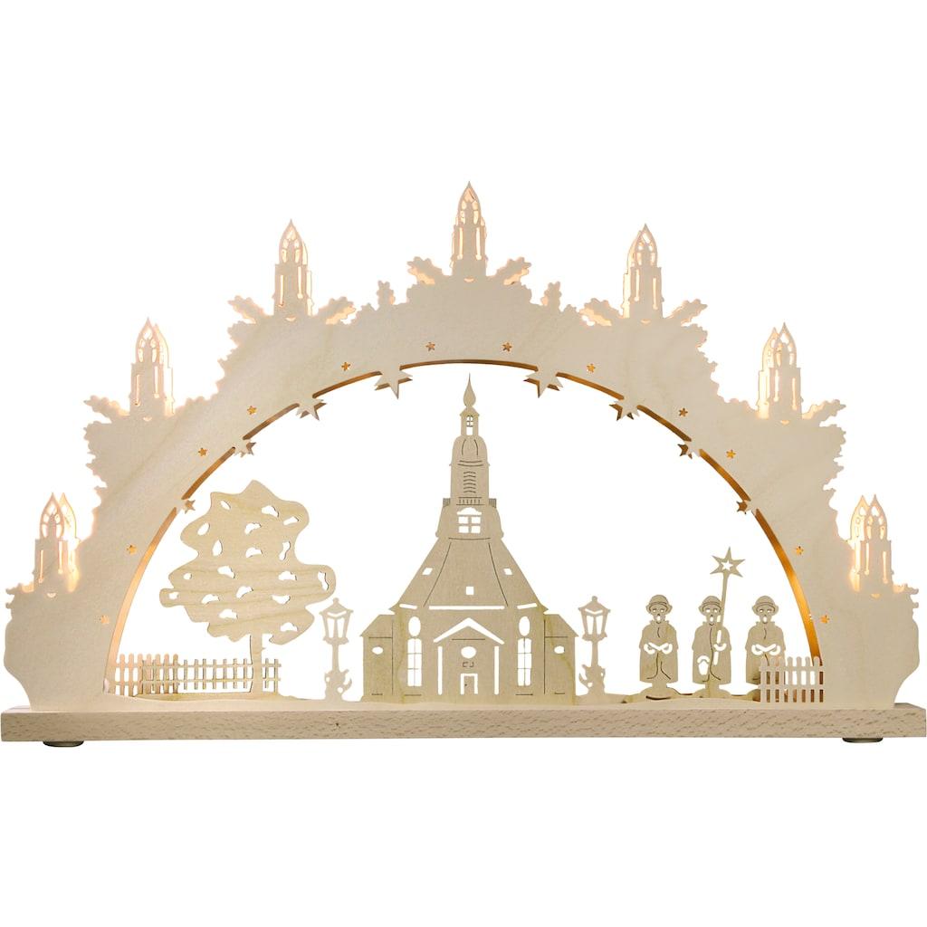 Weigla Schwibbogen »Seiffener Kirche«, 7-flammig