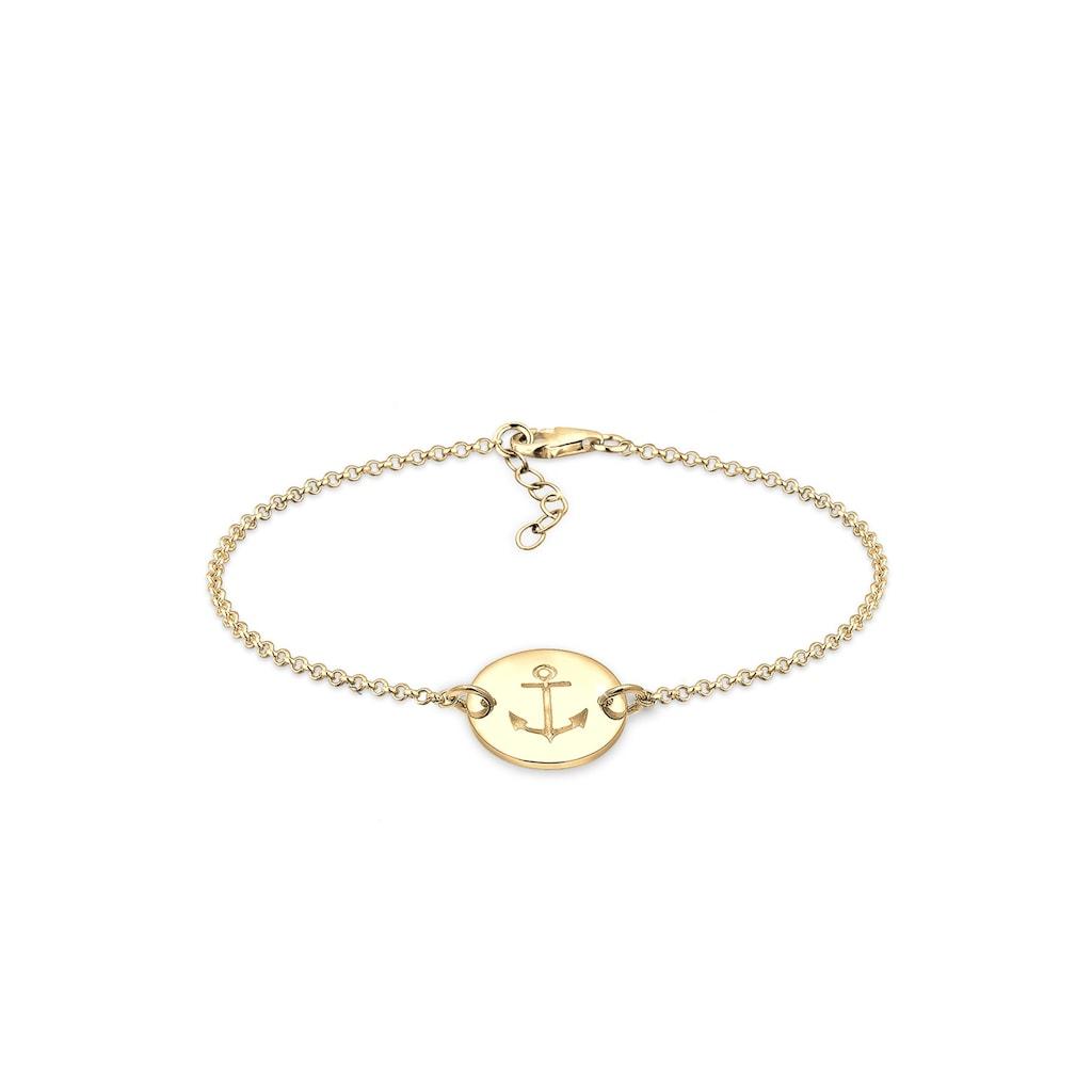 Elli Armband »Anker Plättchen Geo Trend 925 Silber«