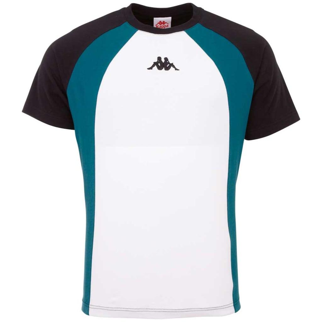 Kappa T-Shirt »AUTHENTIC FYNN«, in angesagtem Colorblocking Design