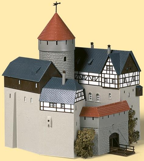 Auhagen Modelleisenbahn-Gebäude Burg Lauterstein, Made in Germany grau Kinder Schienen Zubehör Modelleisenbahnen Autos, Eisenbahn Modellbau