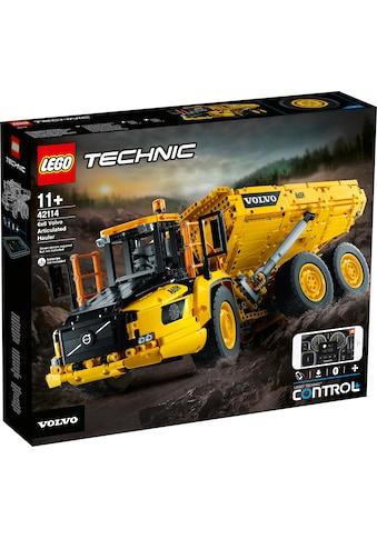 """LEGO® Konstruktionsspielsteine """"Knickgelenkter Volvo - Dumper 6x6 (42114), LEGO® Technic"""", (2193 - tlg.) kaufen"""
