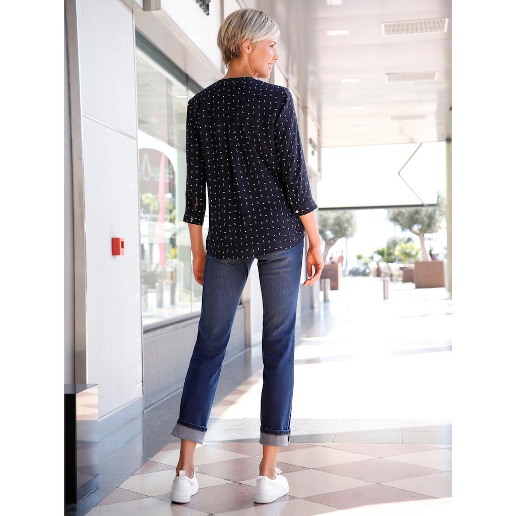 Dress In Tunika, mit Ankerprint