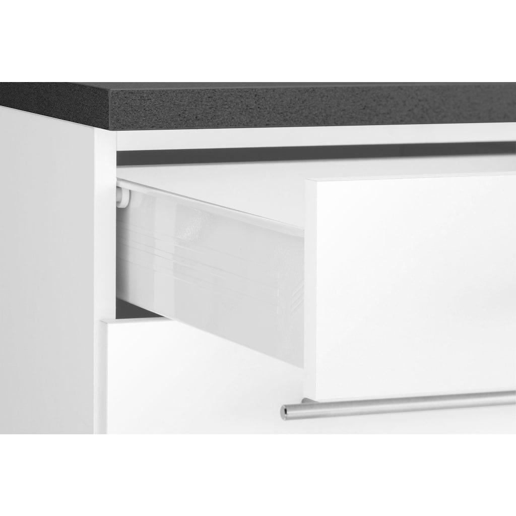 wiho Küchen Küchenzeile »Ela«, mit E-Geräten, Breite 360 cm