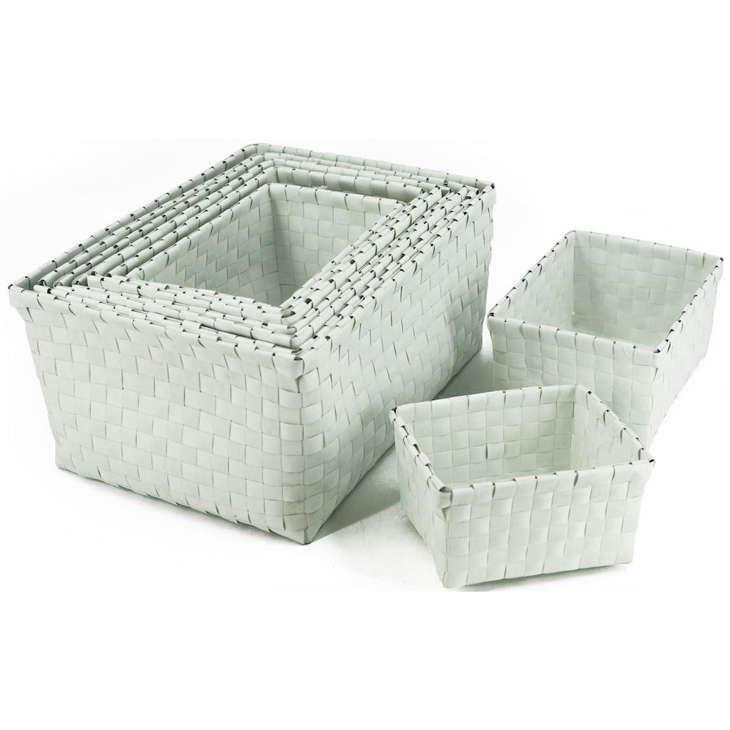NOOR LIVING Aufbewahrungsbox, (Set, 9 St.), schlichtes, elegantes Design, Kunststoff
