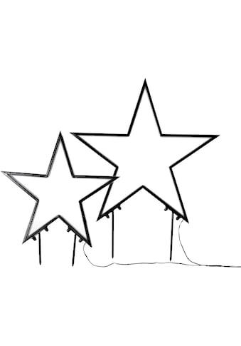 LED Stern, Neutralweiß, Gartenstecker, Durchmesser ca. 45 cm und 60 cm kaufen