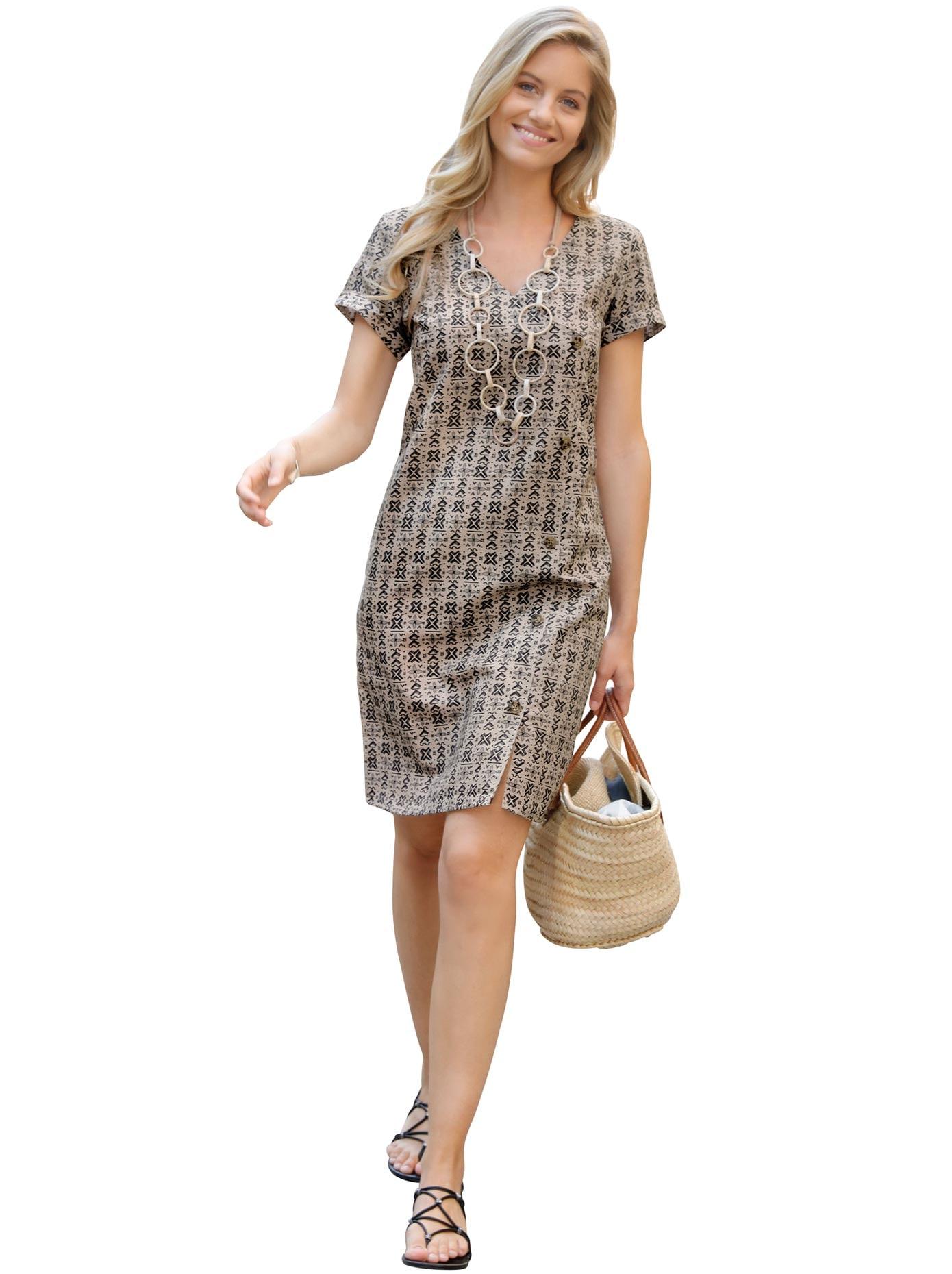 Inspirationen Sommerkleid Leinenkleid braun Damen Leinenkleider Kleider