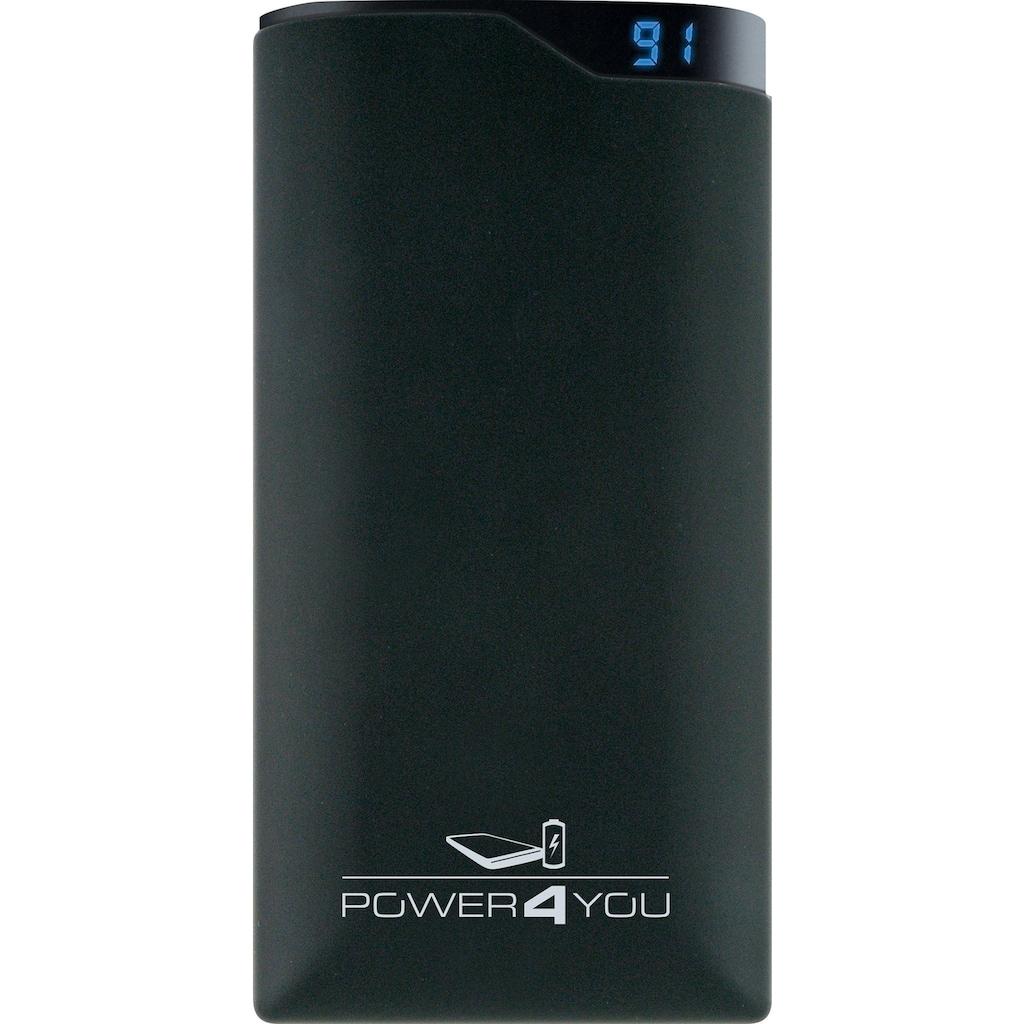Schwaiger Powerbank 10000 mAh mit 2 USB Buchsen und Kapazitäts LED Anzeige »inkl. Ladekabel«