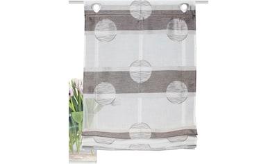 HOME WOHNIDEEN Raffrollo »MEGARA«, mit Ösen, freihängend, Querstreifen Scherli kaufen