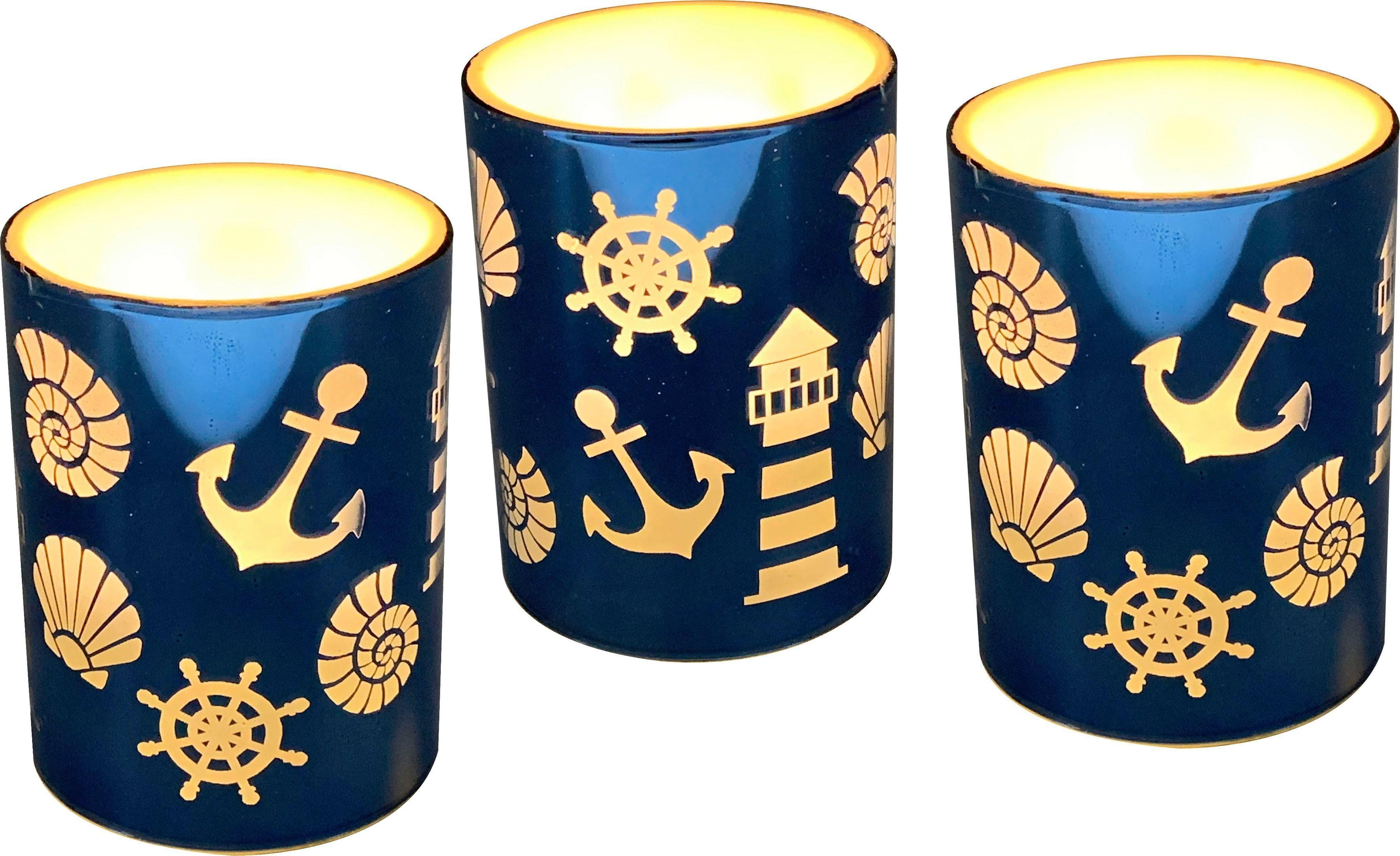 Laterne (Set 3 Stück) Wohnen/Accessoires & Leuchten/Wohnaccessoires/Kerzen & Laternen/Kerzenhalter