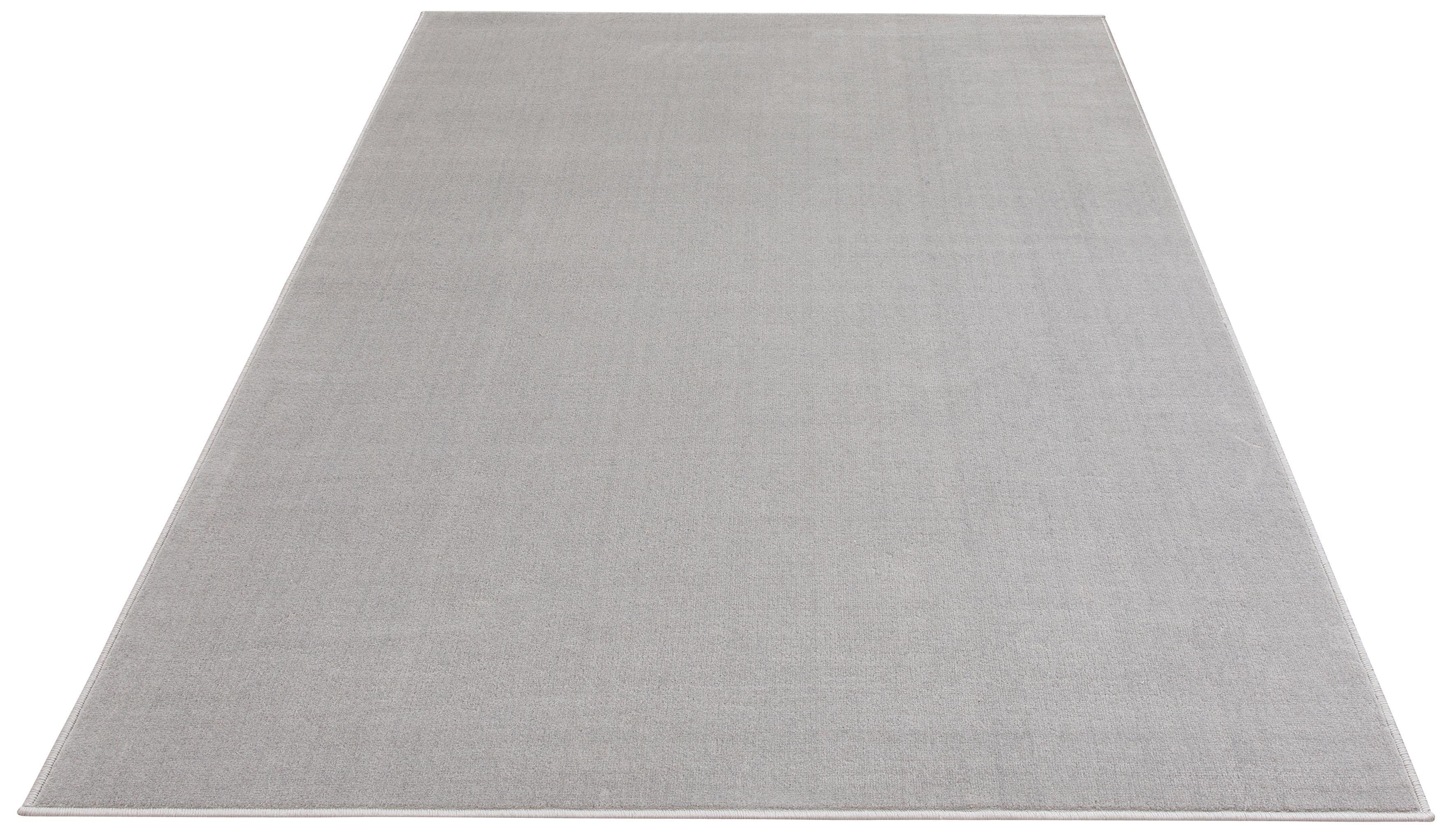 my home Teppich Paddy, rechteckig, 7 mm Höhe, Uni Teppich, Wohnzimmer grau Esszimmerteppiche Teppiche nach Räumen