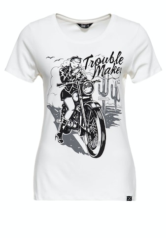 QueenKerosin Print-Shirt »Trouble Maker«, mit Frontmotiv kaufen