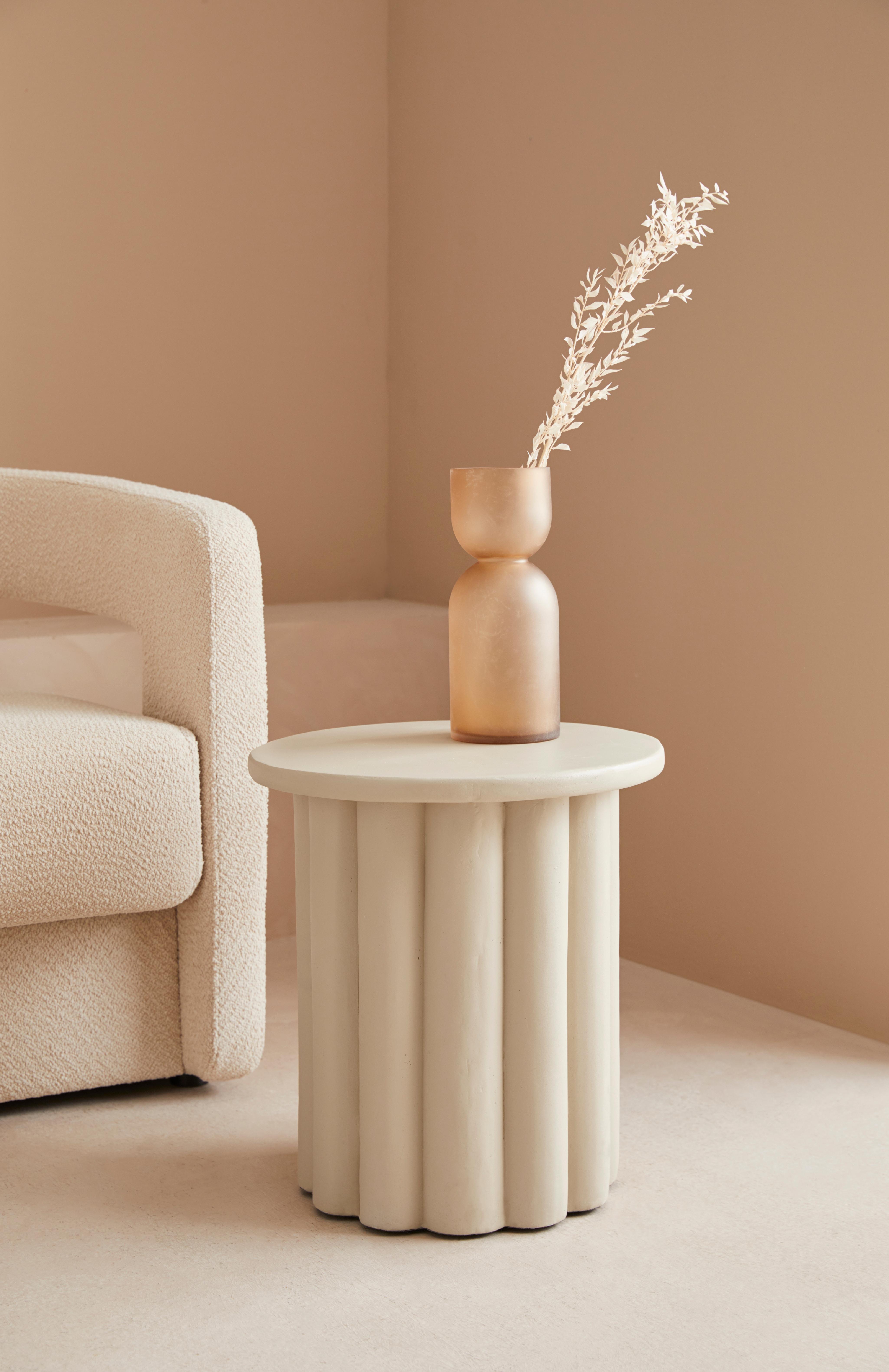 LeGer Home by Lena Gercke Beistelltisch Zena, in Betonoptik, moderne Form beige Beistelltische Tische