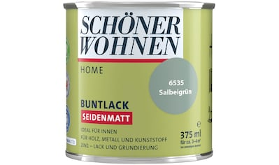 SCHÖNER WOHNEN-Kollektion Lack »Home«, seidenmatt, 375 ml, salbeigrün kaufen