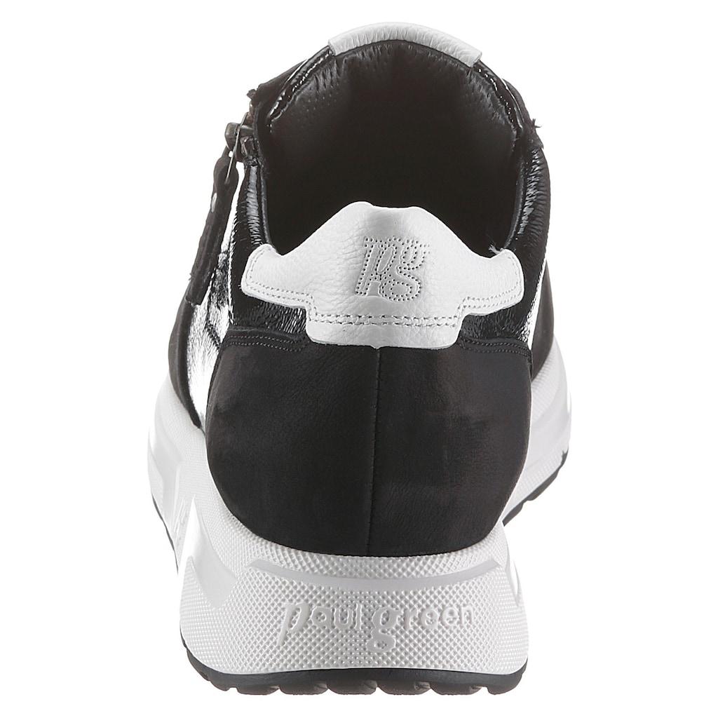 Paul Green Sneaker, mit kontrastfarbiger Laufsohle