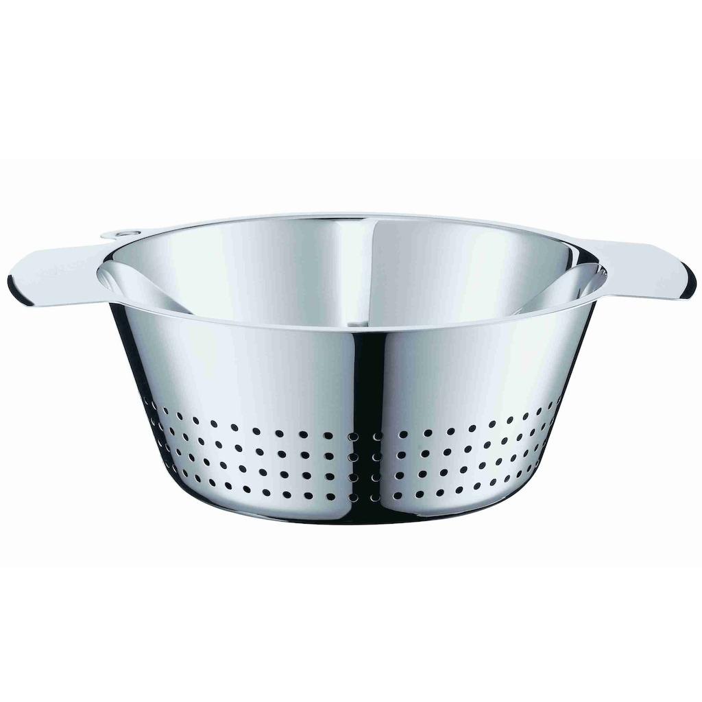 RÖSLE Seiher, (1 St.), konisch, zum Abseihen von Teigwaren und Gemüse und zum Waschen von Salaten, spülmaschinengeeignet