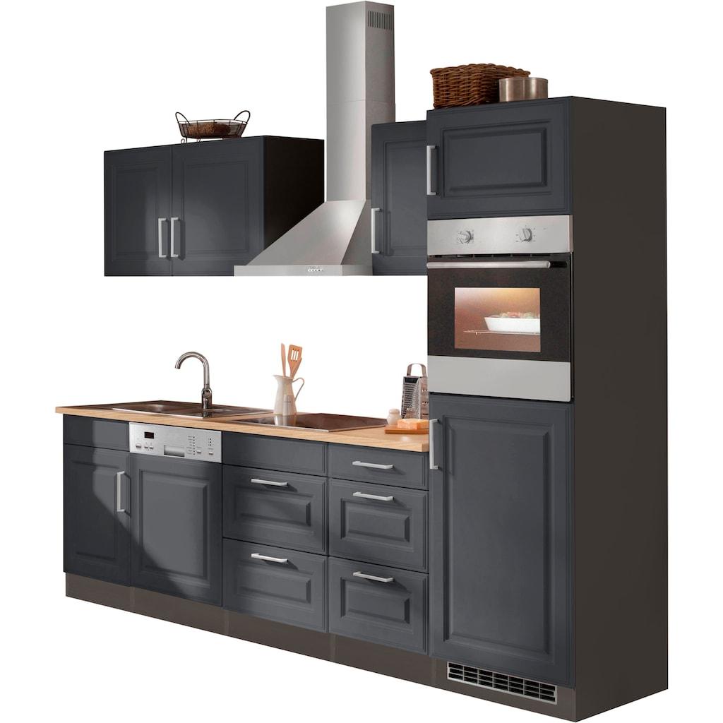 HELD MÖBEL Küchenzeile »Stockholm«, mit E-Geräten, Breite 280 cm