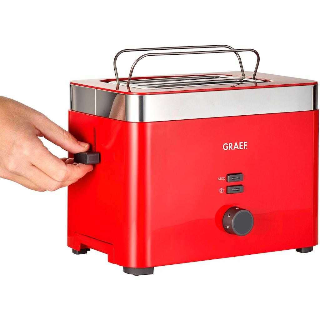 Graef Toaster »TO 63«, 2 kurze Schlitze, für 2 Scheiben, 888 W