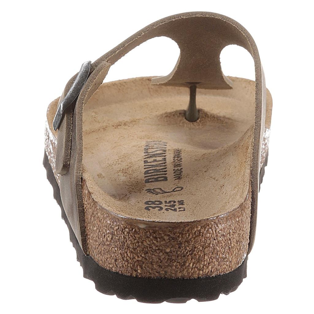 Birkenstock Zehentrenner »Gizeh«, aus gefettetem Leder