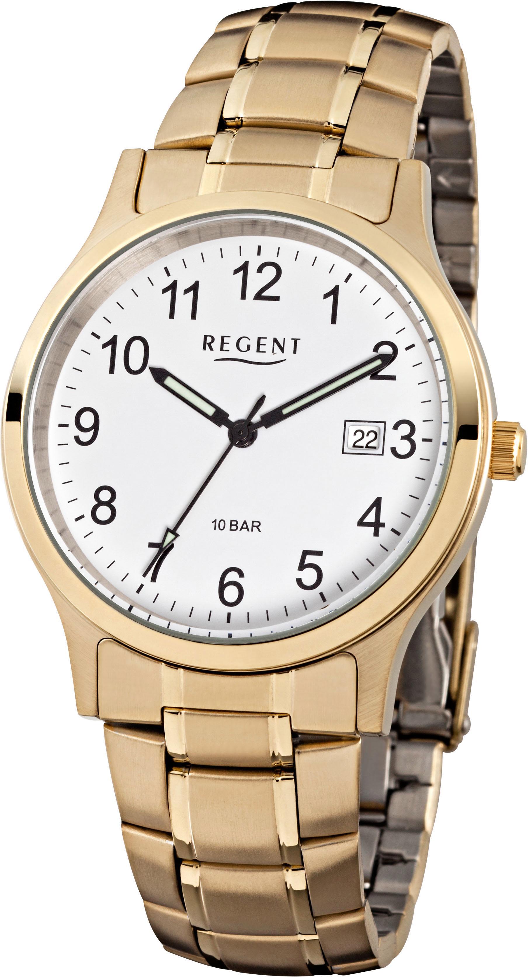 Regent Quarzuhr 16704599 F776 | Uhren > Quarzuhren | Goldfarben | Regent