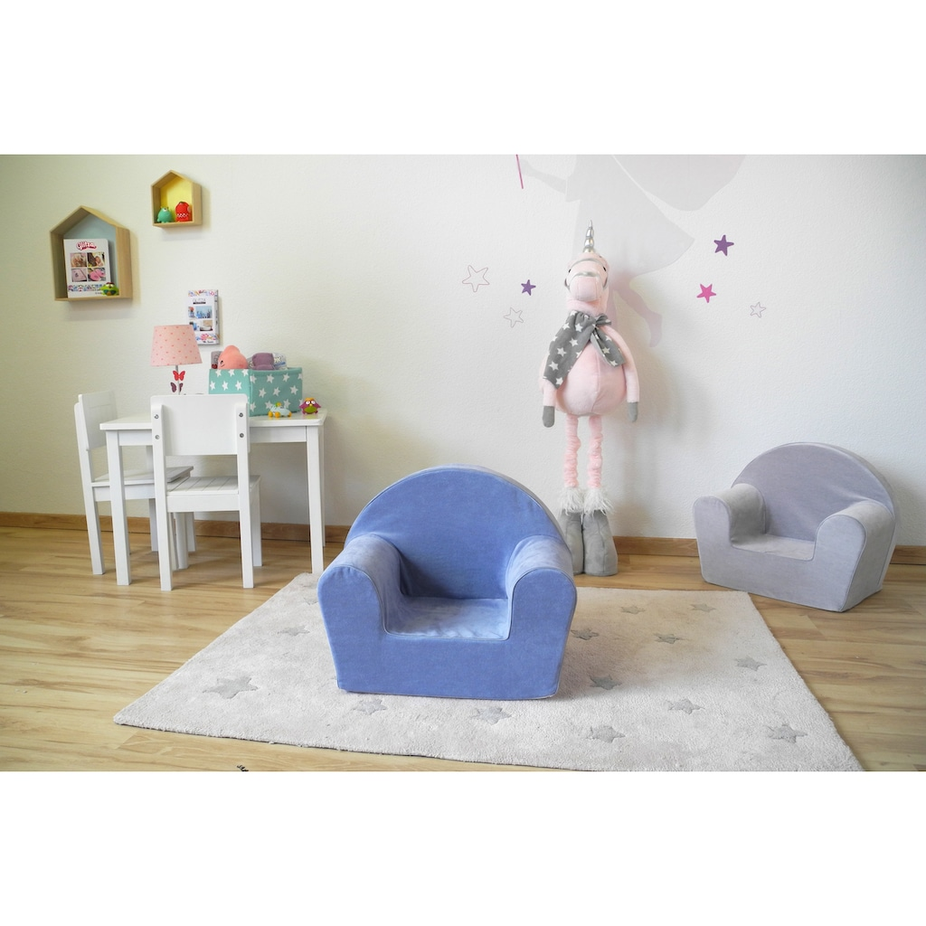 Knorrtoys® Sessel »Soft blue«, Made in Europe
