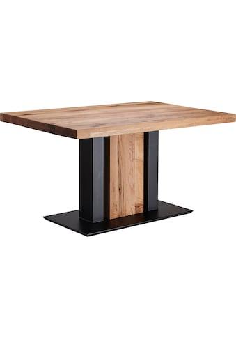K+W Komfort & Wohnen Esstisch »Floyd«, Massivholz, gerissene Balkeneiche, in 2 Breiten kaufen