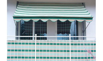 Angerer Freizeitmöbel Balkonsichtschutz, Meterware, beige/grün, H: 75 cm kaufen