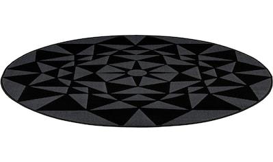 calo-deluxe Teppich »Lissy 290«, rund, 10 mm Höhe, Kurzflor, Wohnzimmer kaufen