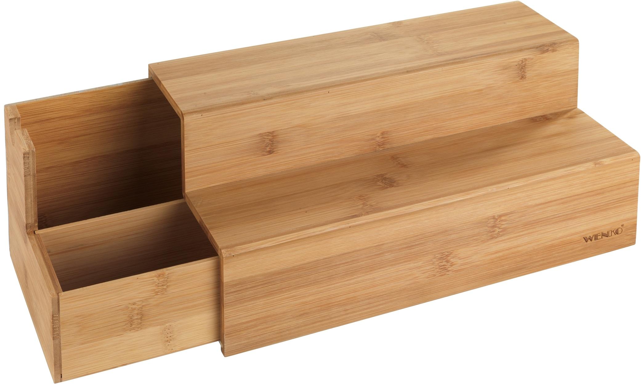WENKO Aufbewahrungssystem Bambus, (1 tlg.) beige Körbe Boxen Regal- Ordnungssysteme Küche Ordnung