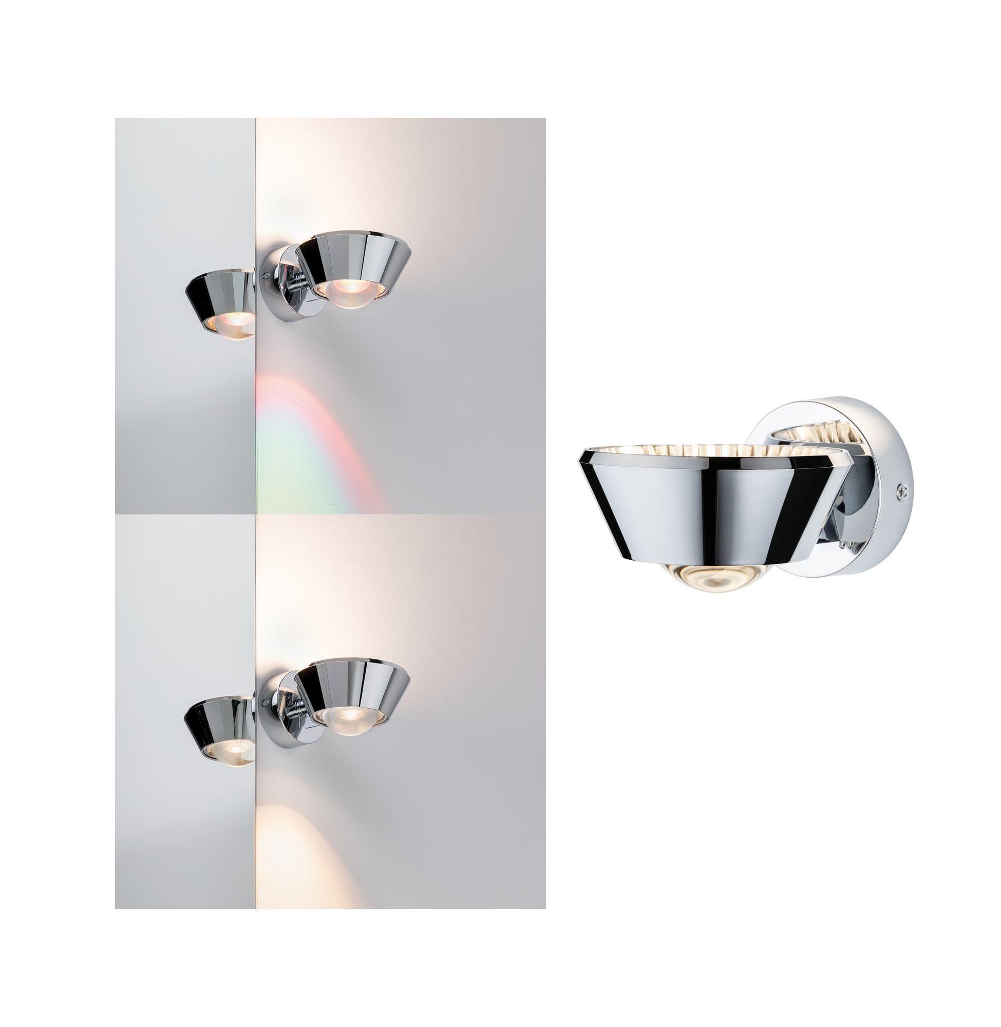 Paulmann LED Wandleuchte Sabik 13W Chrom dimmbar, 1 St., Warmweiß