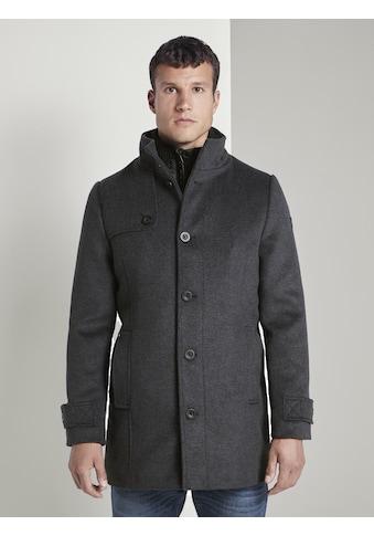 TOM TAILOR Dufflecoat »Wollmantel mit gesteppter Unterjacke« kaufen
