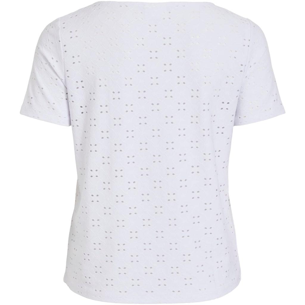 Vila T-Shirt »VITRESSY SHIRT«, mit Lochstickerei allover