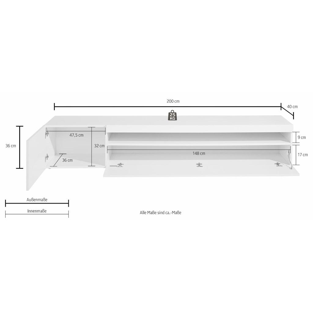 Tecnos Lowboard, Breite 200 cm, ohne Beleuchtung