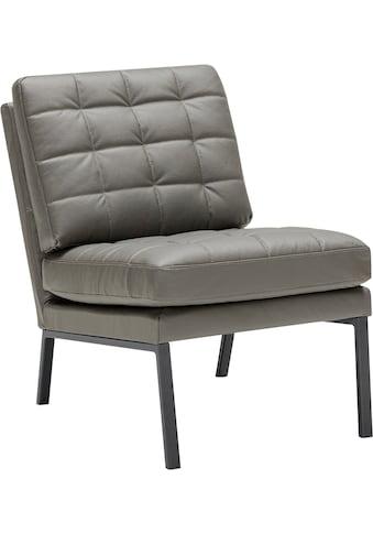 LOVI Sessel »Chilli«, Fußgestell grau, weiche Kissen mit auffallender Steppung im minimalistischen Design kaufen