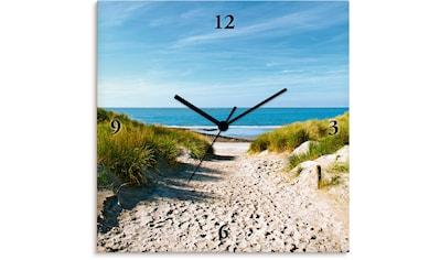 Artland Wanduhr »Strand mit Sanddünen und Weg zur See« kaufen