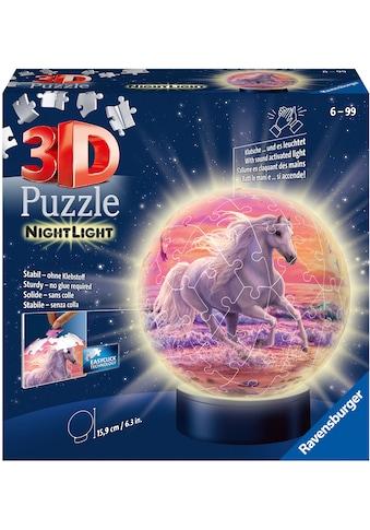 Ravensburger Puzzleball »Nachtlicht Pferde am Strand«, mit Leuchtmodul inkl. LEDs; Made in Europe, FSC® - schützt Wald - weltweit kaufen